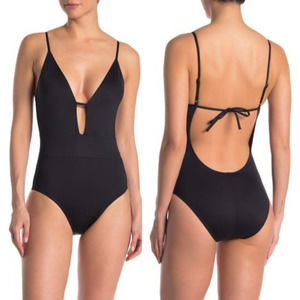 BECCA | Tie Back One-Piece Swimsuit Black Small